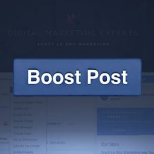 Boost Post Button on Page
