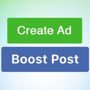Create Ad vs Boost Post